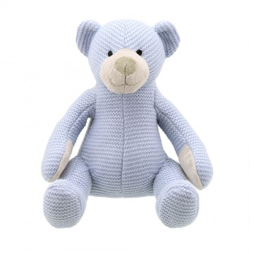 Bear - Blue Medium - Wilberry Knitted