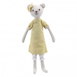 Bear - Girl -  Wilberry Linen Soft Toy
