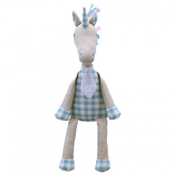 Blue Unicorn - Wilberry Linen Soft Toy