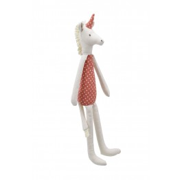 Unicorn - Terracotta -  Wilberry Linen Soft Toy