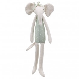 Elephant (Green) -  Wilberry Linen Soft Toy
