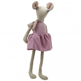Mouse (Girl Large) -  Wilberry Linen Soft Toy