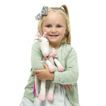 Pink Unicorn - Wilberry Linen Soft Toy