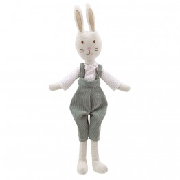 Rabbit - In Dungarees -  Wilberry Linen Soft Toy