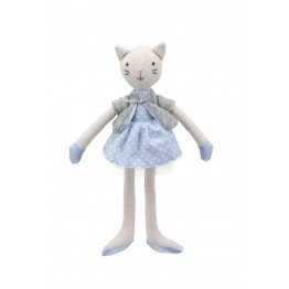 Cat (Blue Dress) -  Wilberry Linen Soft Toy