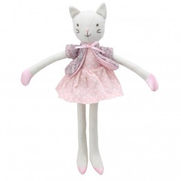 Cat (Pink Dress) -  Wilberry Linen Soft Toy