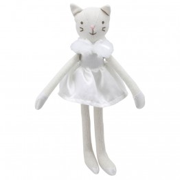 Cat (White Dress) -  Wilberry Linen Soft Toy