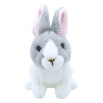 Grey and White Rabbit - Wilberry Mini Soft Toy