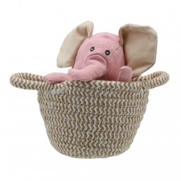 Elephant (pink) - Wilberry Pets in Baskets