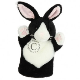 Black & White Rabbit CarPet Glove Puppet