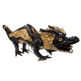 Dragon Hand Puppet - Black & Shiny. Covers Your Arm!