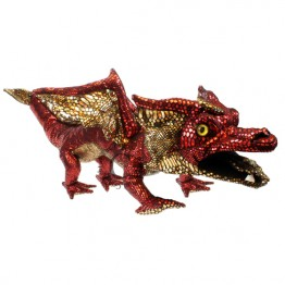Dragon Hand Puppet - Red & Shiny. Covers Your Arm!