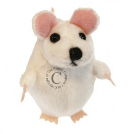 White Mouse Finger Puppet