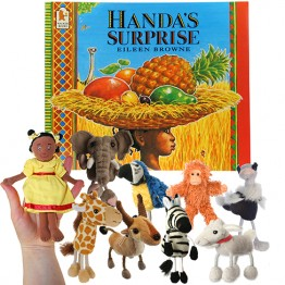 Handa's Surprise Book with Finger Puppets