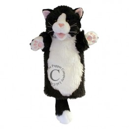 Black & White Cat Long Sleeved Puppet