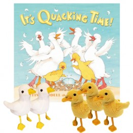 It's Quacking Time Story Book with puppets