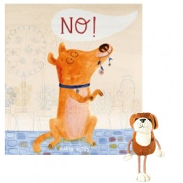 No! Book with Dog Finger Puppet