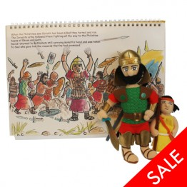 .David & Goliath Story Book with Puppets