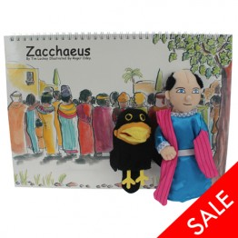.Zacchaeus Story Book with Puppets