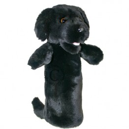 Black Labrador Long Sleeved Glove Puppet