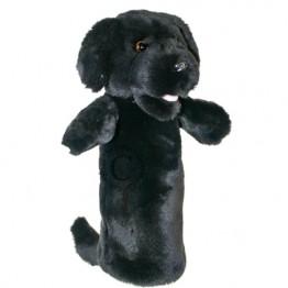 Black Labrador Long Sleeved Glove Puppet