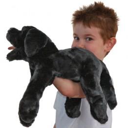 Black Labrador Puppy Hand Puppet