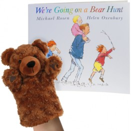 We're Going On A Bear Hunt Book with Puppet