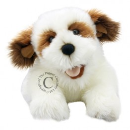 Brown & White Dog Puppet - Full Bodied Puppy