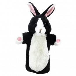 Black & White Rabbit Long Sleeved Puppet