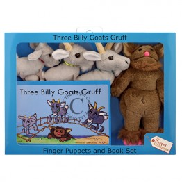 Three Billy Goats Gruff Finger Puppets & Book Set Boxed